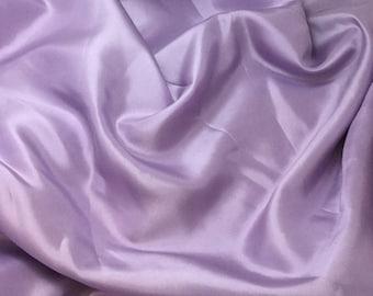 LAVENDER China Silk HABOTAI Fabric - 1/2 Yard