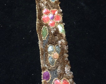 Vintage lace and sequin piece