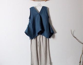 bonnot linen origami seam flare top size L ready to wear