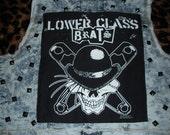 Cropped Denim Punk Vest