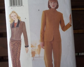 Vogue 9703 Wrap Skirt, Jacket Pants Pattern Very Easy Very Vogue Size 8-12