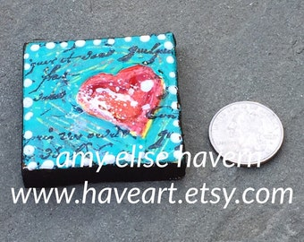 Little Heart Mini Canvas Painting 2x2