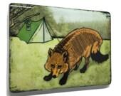 Fox Fridge Magnet / Camping Fridge Magnet / Unique Kitchen Magnet / Nature Fridge Magnet / Nature Kitchen Decor / Cool Fridge Magnets