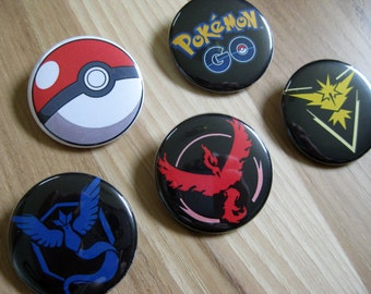 Pokemon Go Team Pinback Button Set
