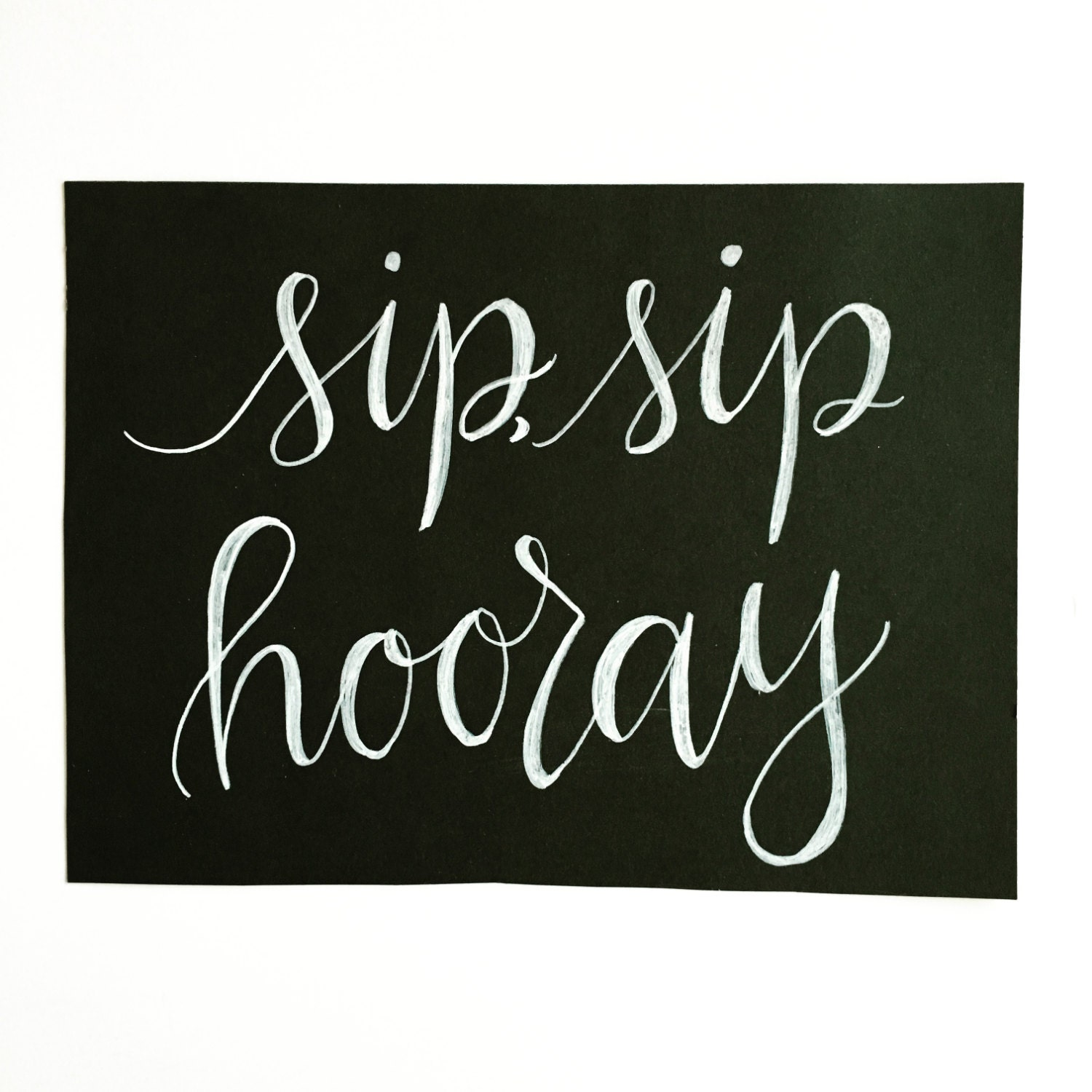 Modern calligraphy chalkboard sign Calligraphy and sign