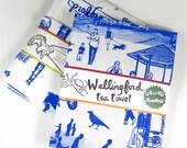 Wallingford Tea Towel Seattle Neighborhood souvenir silk screen OLIOTTO