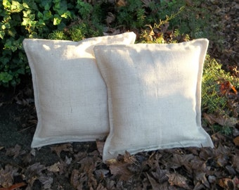 2 Metallic White Burlap Pillows Custom Burlap Pillows Sparkly Burlap Pillows White Decorative Pillows French Country Holiday Pillow Covers