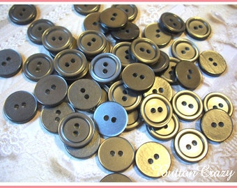 50 Gray Vintage Buttons