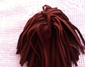 100 Hand Dyed Wool Rug Hooking Strips Chestnut Brown