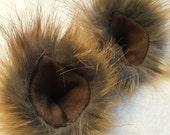 Faux Fur Clip On Costume Ears Gazelle Impala Deer Colored