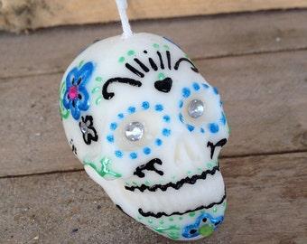 Sugar Skull Candle - Vanilla Scented
