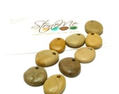 MAPLE Jewelry Stones Beach Stone Beads Top Drilled Rocks Natural Stone Pebble Beads Diy Jewelry Making Charms