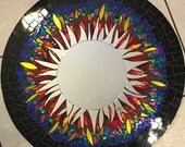 Mosaic Mirror Stained Glass Round