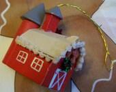 tiny kurt s adler red barn ornament