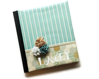 Blue Cream Lace Baby Book