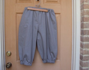 Child's size 4  knickers grey twill for pirate, Newsies, Annie, Colonial lads, renaissance, Halloween costume