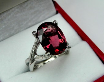 AAA Rubellite Tourmaline   13x9.5mm  4.87 Carats   14K White gold gold - ELKE- ring 0711