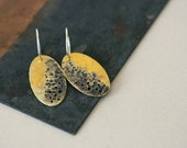 Mottled Brass Earrings