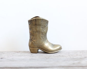 Brass Cowboy Boot
