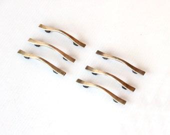 Midcentury Brass Drawer Handle Pull Hardware