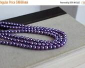 Clearance SALE Freshwater Pearl Purple Roundish Oval Potato 6mm 32 beads 1/2 Strand