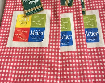 3 Kitchen Towels to Stitch or Paint