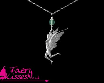 Silver Fairy Pendant with Blue Fluorite - Original Kisses - Tallulah - Exclusively designed by Faery Kisses (British Hallmarked Silver)