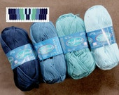 "Inkle Weaving Yarn and Pattern Pack, Yarn, Designs for Weaving 1"" Inkle Bands, Weaving Pattern Drafts, Cotton Yarn Assortment #3"