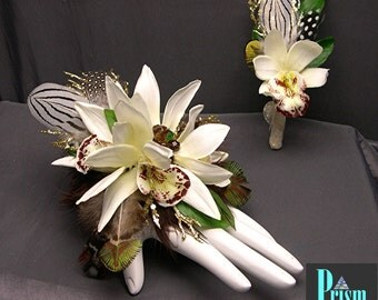 Cymbidium Orchid Wrist Corsage Set