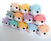 Amigurumi Crochet Plush Hamster - Choose Your Own Cute Pastel Hamster - Made to Order