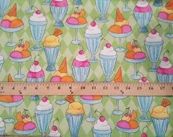 Flannel Ice Cream Sundae Fabric 1/2 yard