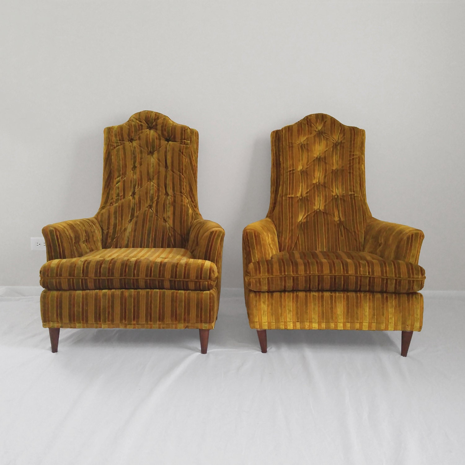 ... Kroehler Furniture Reviews By 2 Mid Century Modern Kroehler Back Tufted  Club Chairs ...