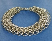 Stainless Steel Viperscale Weave Chainmaille Bracelet