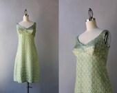 1960s Dress / Vintage 60s Metallic Cocktail Dress / Sixties Golden Lurex Dress