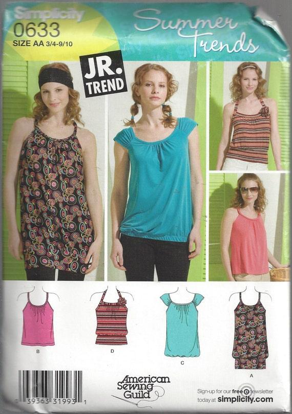 2008 Top Pattern Blouse Summer Trends Shirt Simplicity