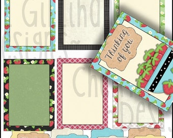 Strawberry Fields Cards and SentimentTags