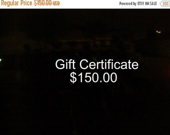 Announcement One Hundred Fifty Dollar Gift Certificate