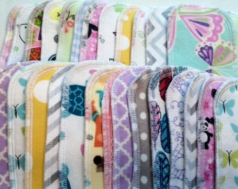 20 pantyliners, Choose  White, Natural Ivory, or prints, special 1.50 Each, cloth pad, 3 layer protection, cloth pads, pantyliners