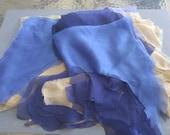 Silk Iridescent Chiffon Fabric Scraps/4 colors/ Bag 8 oz