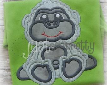 Cute Gorilla Embroidery Applique Design