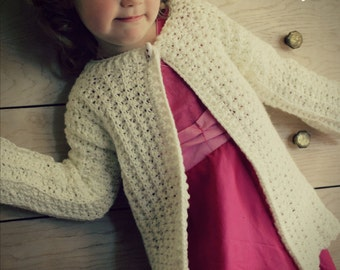 Download Now - CROCHET PATTERN Laurel Cardigan - Sizes 1-12 Years - Pattern PDF