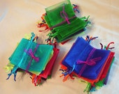 Organza Craft Bags, 3x4, Drawstring Bags, Jewelry Bags, 18 Per Order