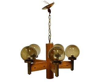 1960s Ceiling Light, Mid Century Modern Hanging Lamp, Vintage Lighting Fixture, Danish Modern