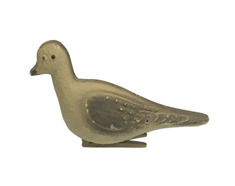 Old Pigeon Decoy | Homing Pigeon Clip on Paper Mache Bird | Vintage Hunting