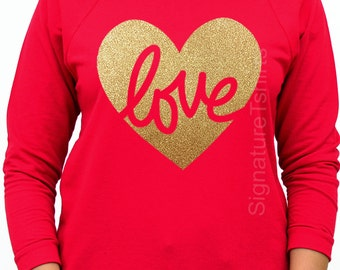 Valentines Day Shirt, Womens Off Shoulder, LOVE tshirt, Heart Shirt, Valentines Shirt, Heart Off ...