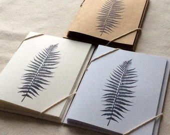 6 Blank Fern Card Set, Botanical Cards, Leaf Note Cards