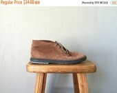 ON SALE Vintage KEDS Boots • 1990s Shoes • Casual Brown Suede Leather Lace Up Oxford Booties 90s Grunge Tennis Shoes Sneakers •Size 6.5 Wom