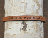 isaiah 41:10 - adjustable leather bracelet  (additional colors available)