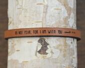 isaiah 41:10 - adjustable leather bracelet