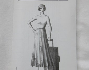 """2208 Sewing Pattern Ladies """"The Travel Skirt"""" Rolls up for Packing S M L Waist 26 1/2"""" - 32 1/2"""" Heavy Paper Uncut Factory Folds"""